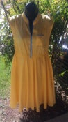 Image of Vintage Yellow Swing Dress Medium