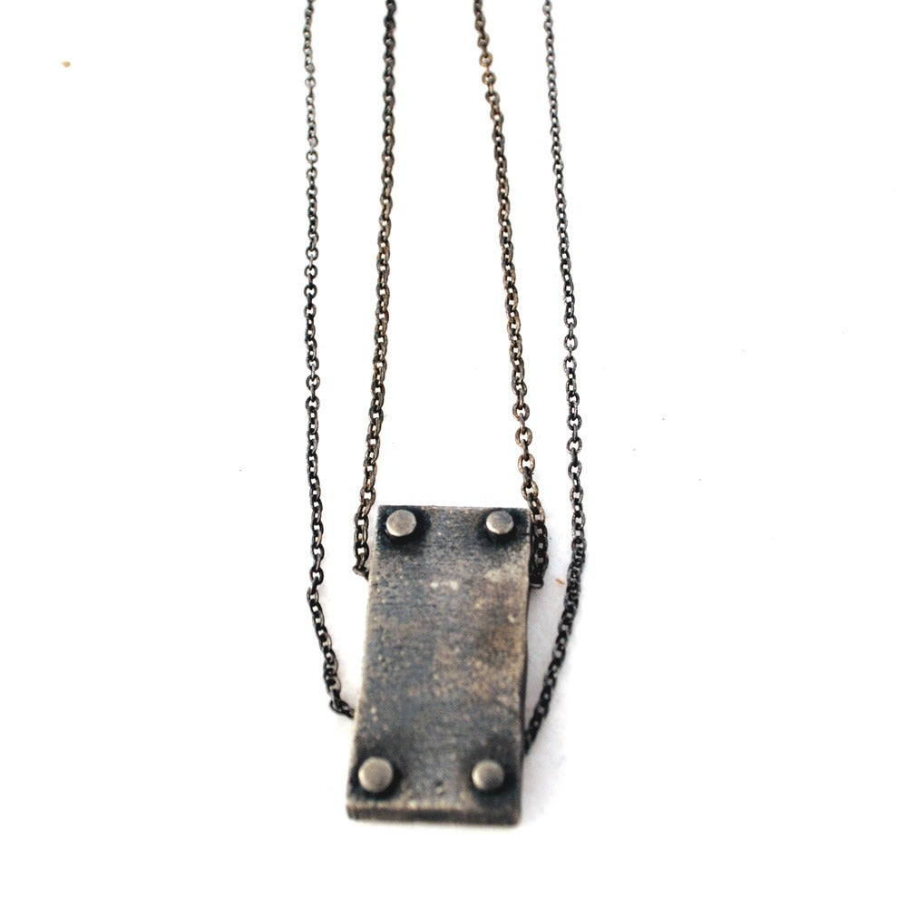 Image of small vertical necklace double chain