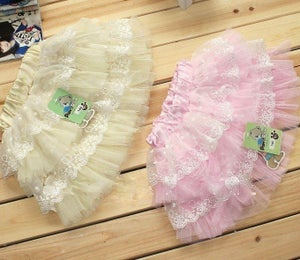 Image of Pink Tule and Lace Skirt