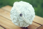 Image of Whimsical Wooly Halo Headband in cream with vintage charm