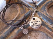 "Image of ""Love me and my Dog"" bauble charm"