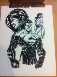 Image of Superman Original Drawing