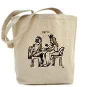 Image of HIGH TEA canvas tote bag