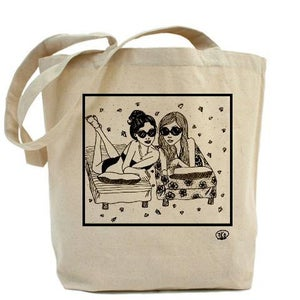 Image of BEACH BEAUTIES canvas tote bag