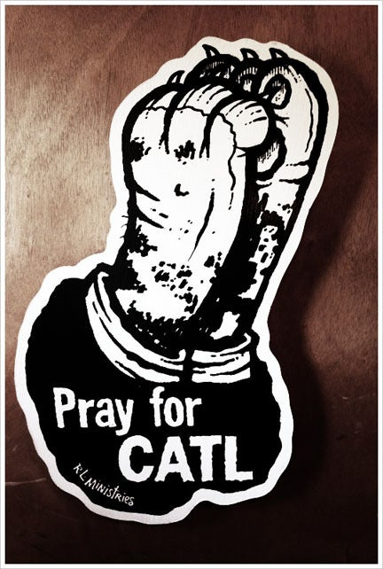 Image of Pray for CATL wall piece