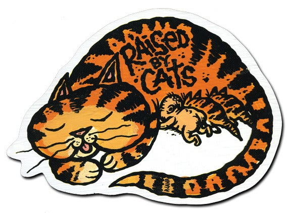 Image of Raised by Cats Magnet (Orange)