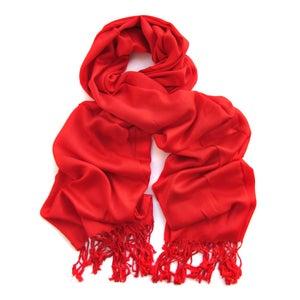 Image of Echarpe Bamboo Fashion (rouge) ref.0086