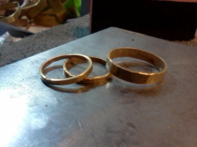 Image of Forged 14K wedding band