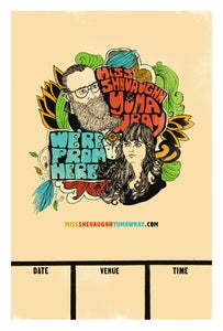 """Image of """"We're From Here"""" Official tour poster"""