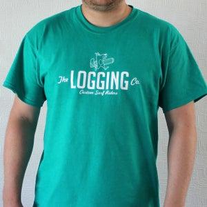Image of Teal logo tshirt