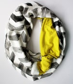 Image of Hand painted Silk and Chartreuse Merino Snood