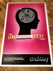 Image of Running Man US Tour Poster (SOLD OUT)