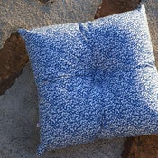 Image of GLENJADE (CHAMBRAY) square buttoned cushion