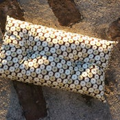 Image of TORIA rectangle buttoned cushion