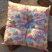 Image of OVER THE RAINBOW square buttoned cushion