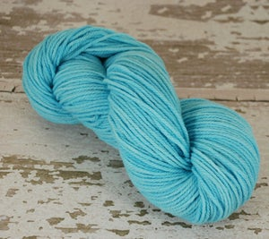 Image of Turquoise blue semi solid - 3ply BBR Merino