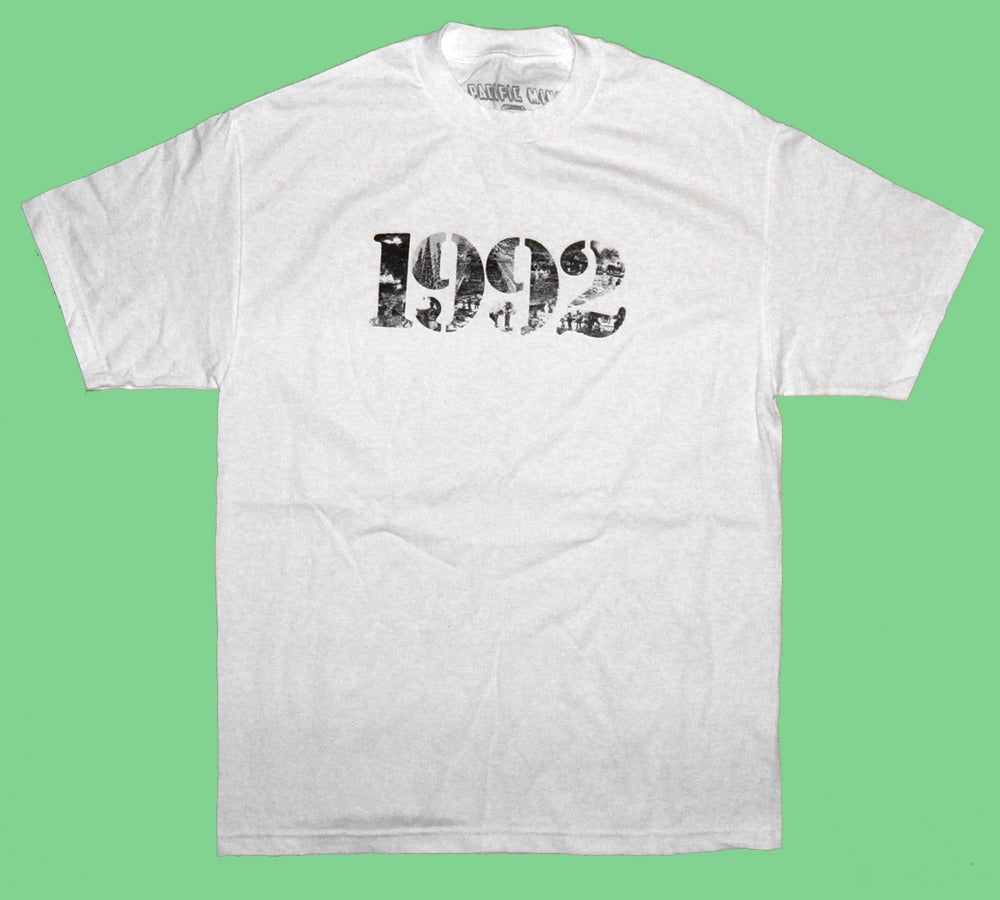 "Image of ""92 RIOT"" Tee in White"