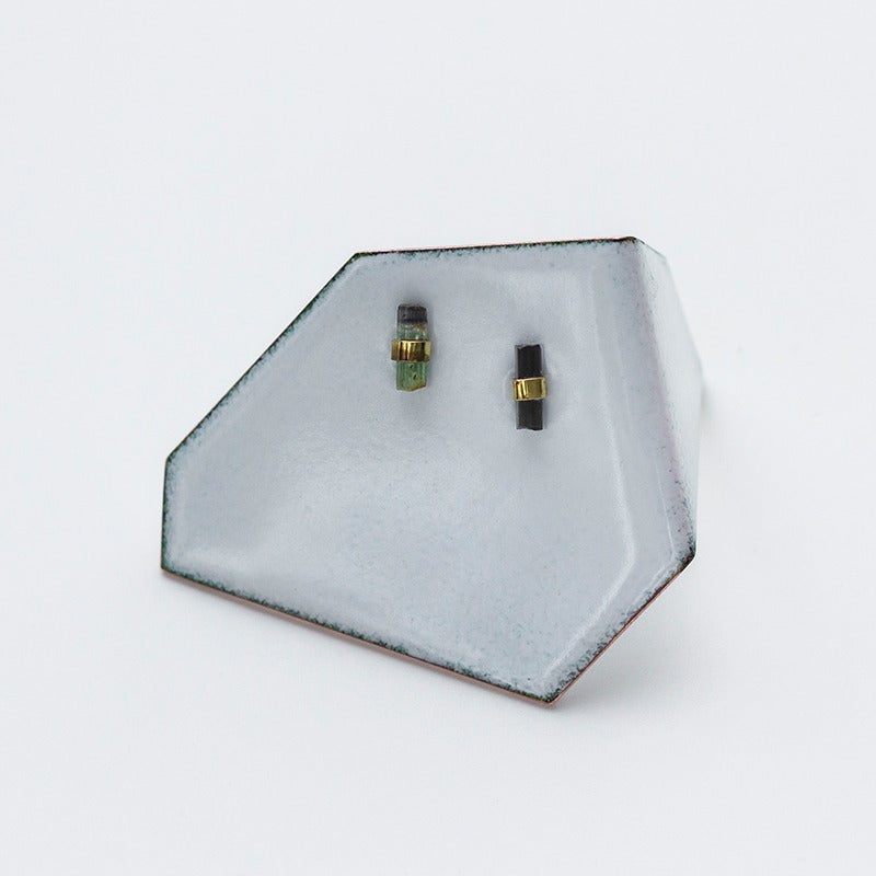 Image of Better Late Than Never Tourmaline Bar Studs