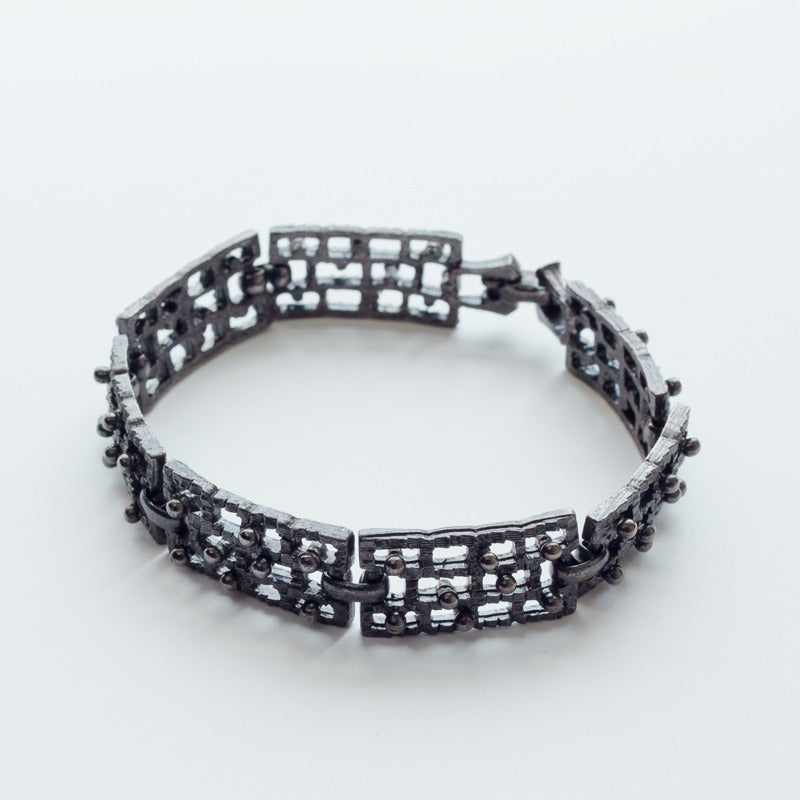 Image of Antique Mid Century Textured Line Bracelet