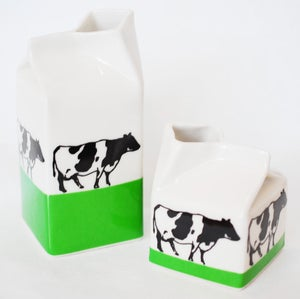 Image of Cows On Grass Milk Jug