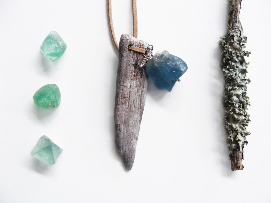 Image of Driftwood & Raw Aventurine Necklace