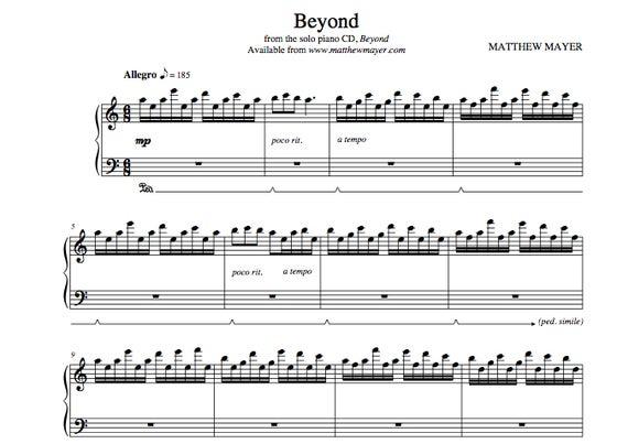 Image of Beyond Sheet Music