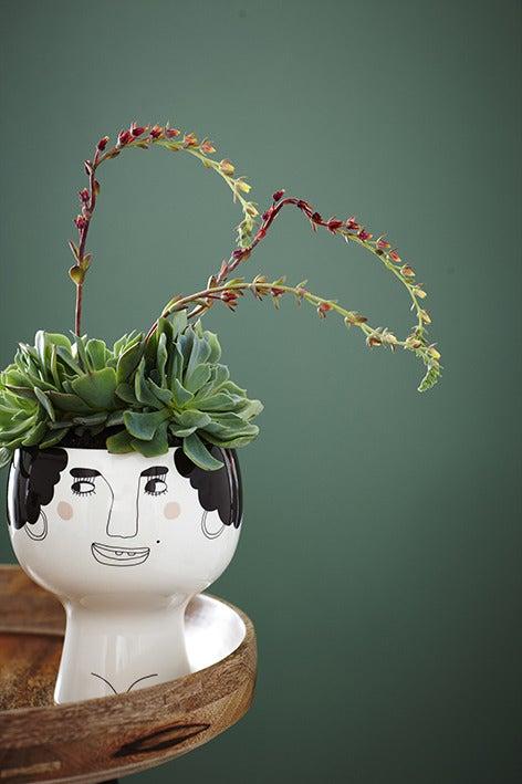 Image of Flower me happy pot - Esmeralda