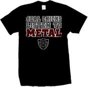 Image of Real Chicks Listen To Metal HATEWEAR T-Shirt (Black)