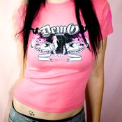 Image of Crutches - Candy Pink (Girls Skinny Tee)