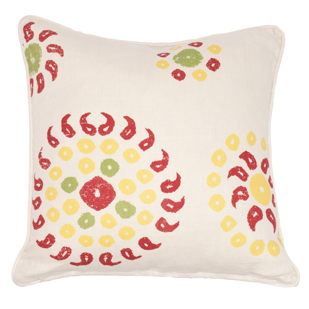 "Image of Ikat Red/Marrakech Cherry Red 24"" Pillow"