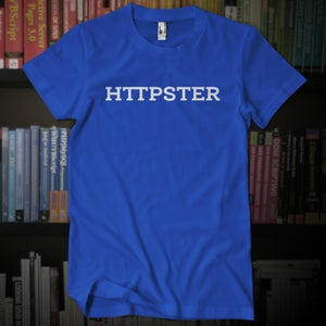 Image of HTTPSTER Tee, Book Edition (Blue)