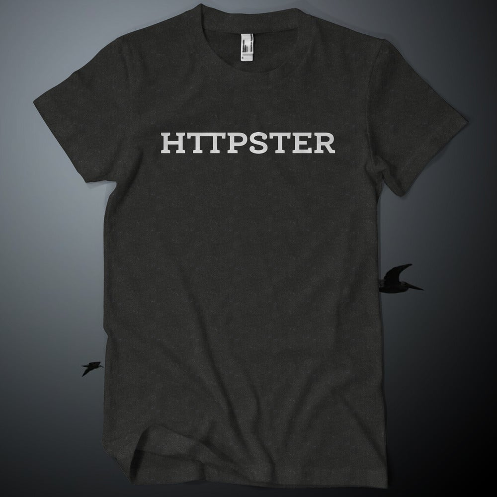Image of HTTPSTER Tee, Bird Edition (Tri-Black)