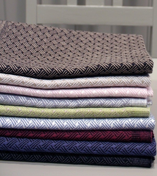 "Image of Woven, Linen Kitchen Towels ""Sali"""