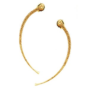 Image of Racer Rib Earrings Gold