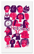 Image of hellohead tea towel