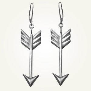 Image of Arrow Earrings, Sterling Silver
