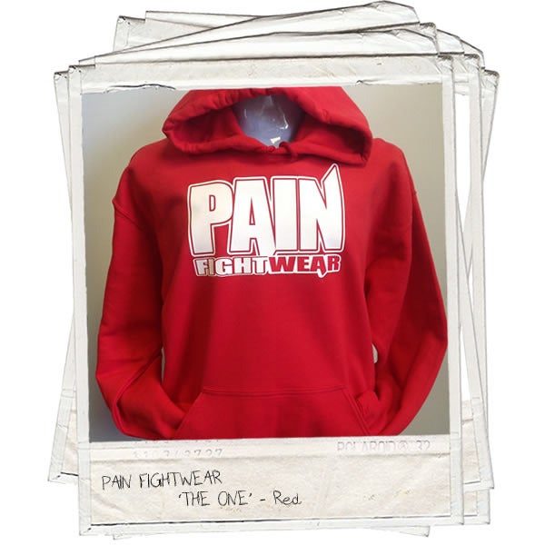 Image of PAIN FIGHTWEAR - KIDS 'THE ONE' HOODIE RED