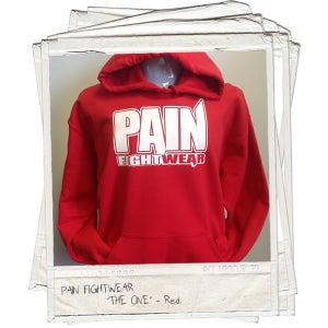 Image of PAIN FIGHTWEAR - MENS 'THE ONE' HOODIE RED