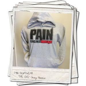 Image of PAIN FIGHTWEAR - KIDS 'THE ONE' HOODIE SPORT GREY