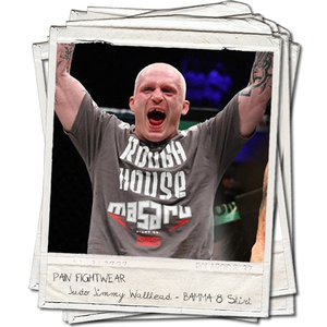Image of 'JUDO' JIMMY WALLHEAD BAMMA 8 WALKOUT T'SHIRT