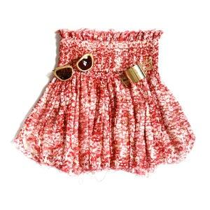 Image of Étoile Metallic Silk Crêpe Skirt