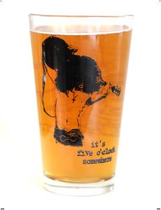 Image of Slash - It's Five O'Clock Somewhere - 16 oz. pint glass