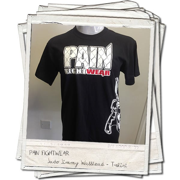 Image of PAINFIGHTWEAR JIMMY WALLHEAD 'MASK' T'SHIRT BLACK