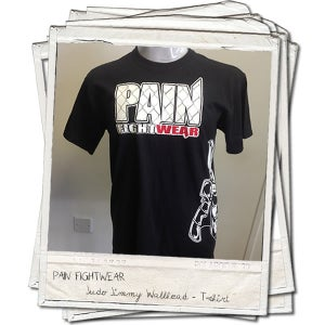 Image of PAINFIGHTWEAR JIMMY WALLHEAD 'MASK' T'SHIRT BLACK