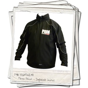 Image of PAINFIGHTWEAR SOFTSHELL JACKET BLACK