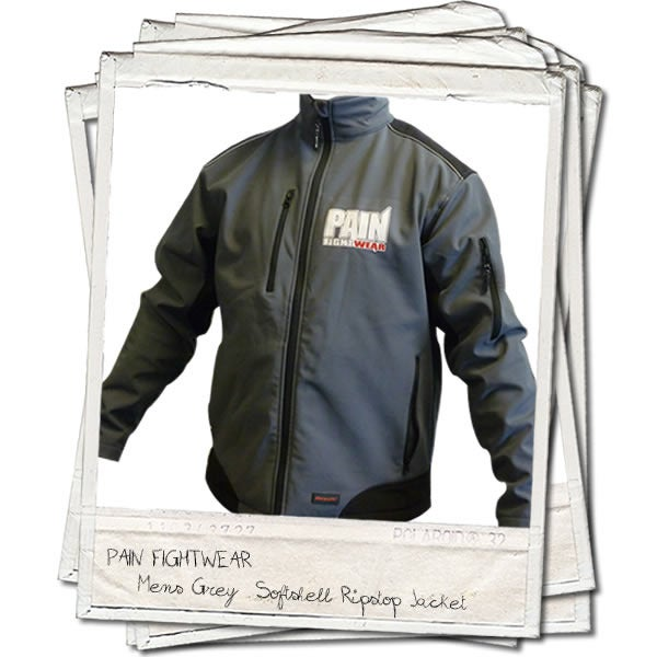 Image of PAINFIGHTWEAR SOFTSHELL RIPSTOP JACKET GREY