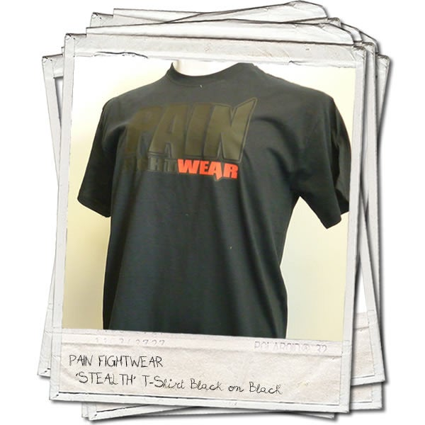 Image of PAINFIGHTWEAR 'STEALTH' MENS T'SHIRT BLACK