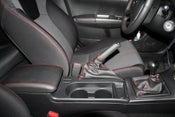 Image of 08-12 WRX/ST SYNTHETIC LEATHER BOOTS ONLY. (BLACK LEATHER/RED STITCHING)