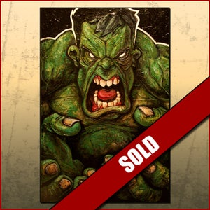 Image of The Hulk Original Acrylic on Canvas