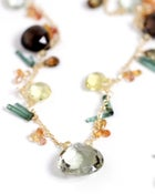 Image of Gold Multi Stone Necklace 2